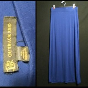 3/30🎆Blue Maxi Skirt by Outback Red